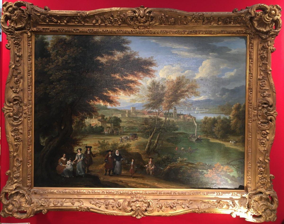 Belle Huile Sur Toile Attribuée à Franz Boubewyns (1644 - 1711)