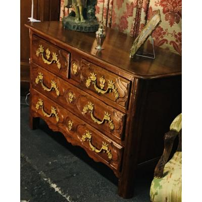 Belle Commode Louis XIV En Noyer