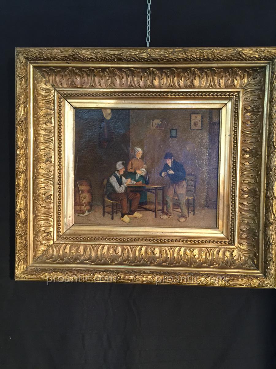Tableau Belle Scène d'Intérieur d'Autrefois
