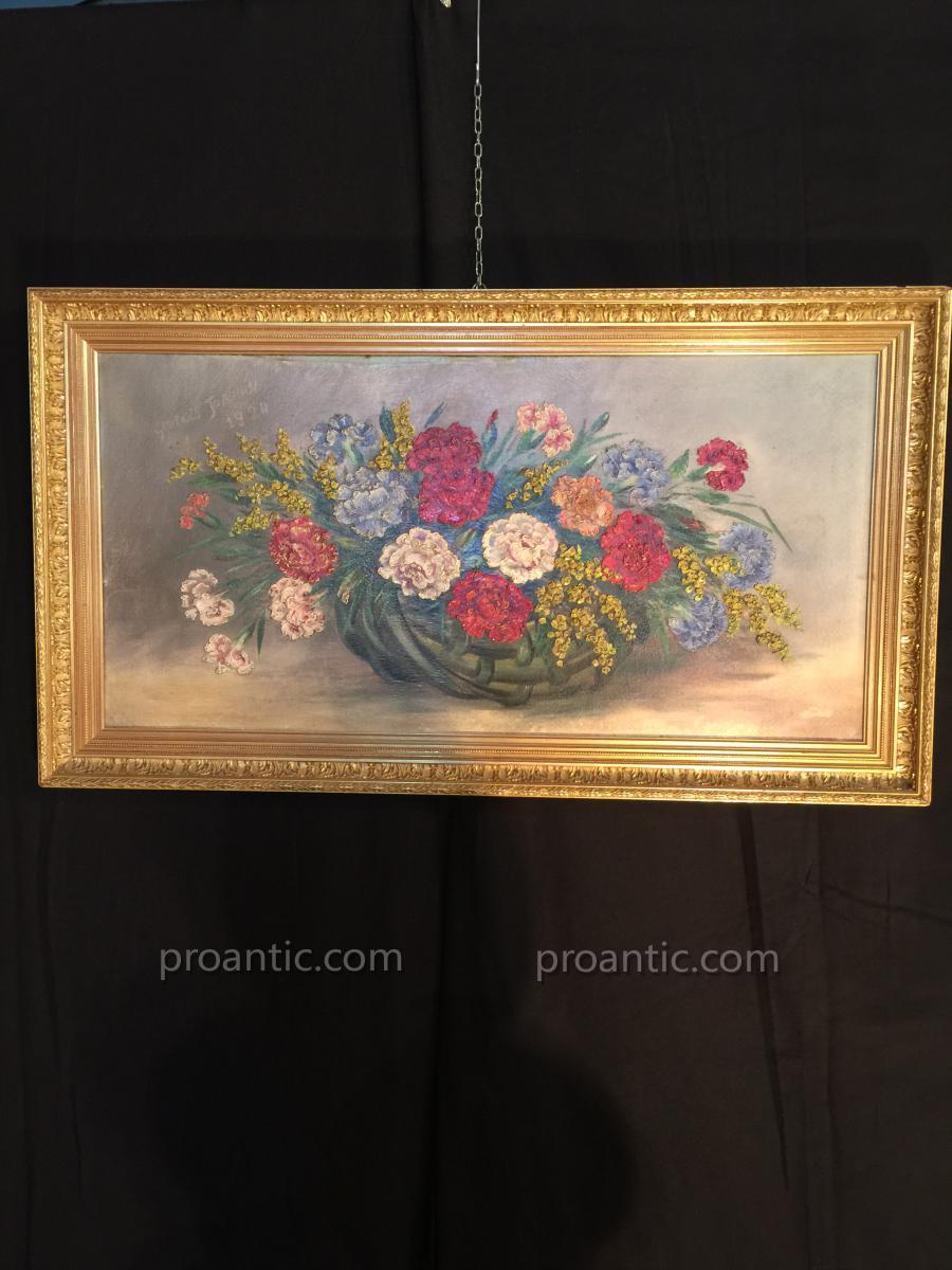 Belle Corbeille De Fleurs De georges Jeannin