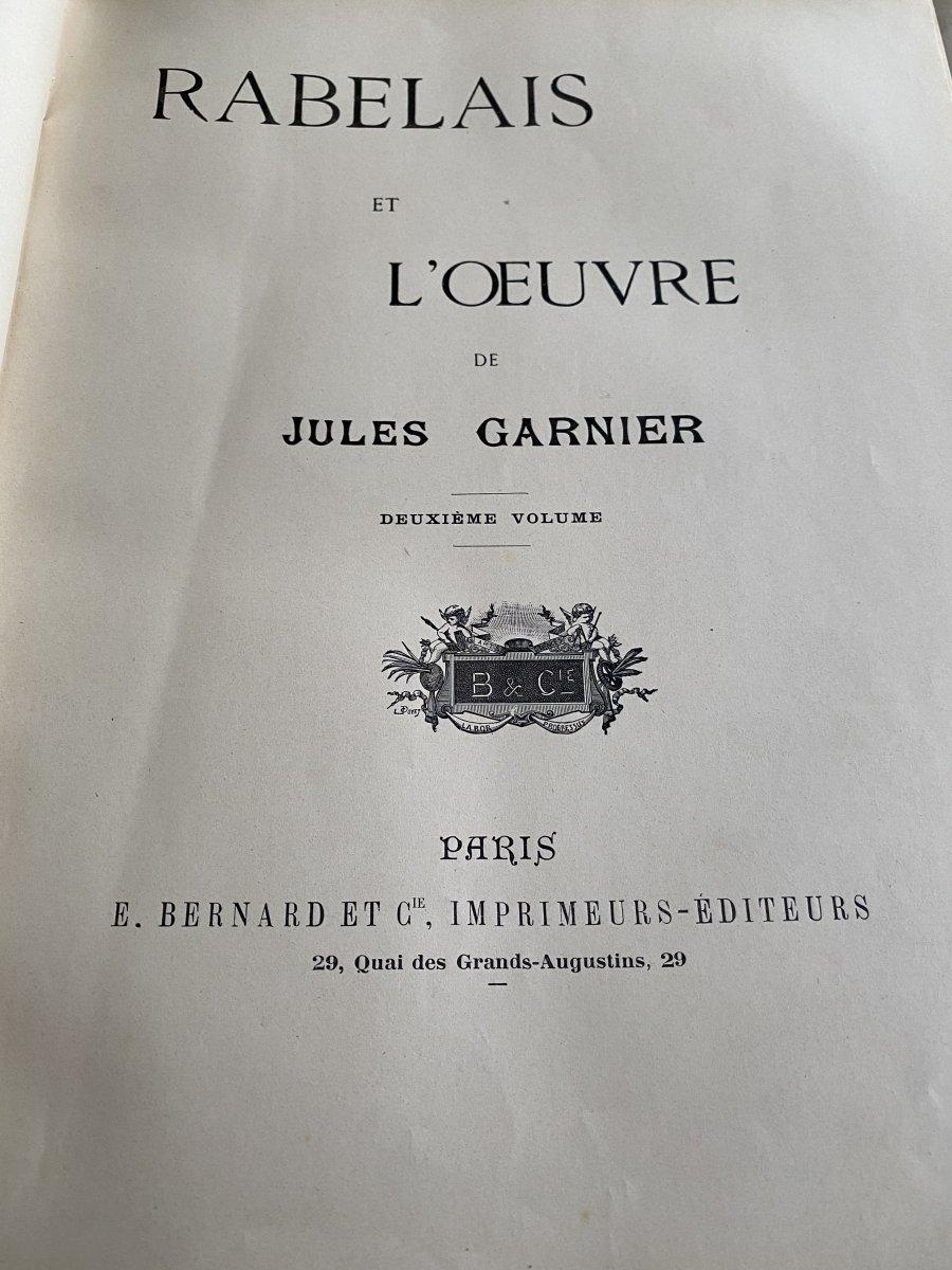 Rabelais Et L'œuvre De Jules -Arsène Garnier -photo-2