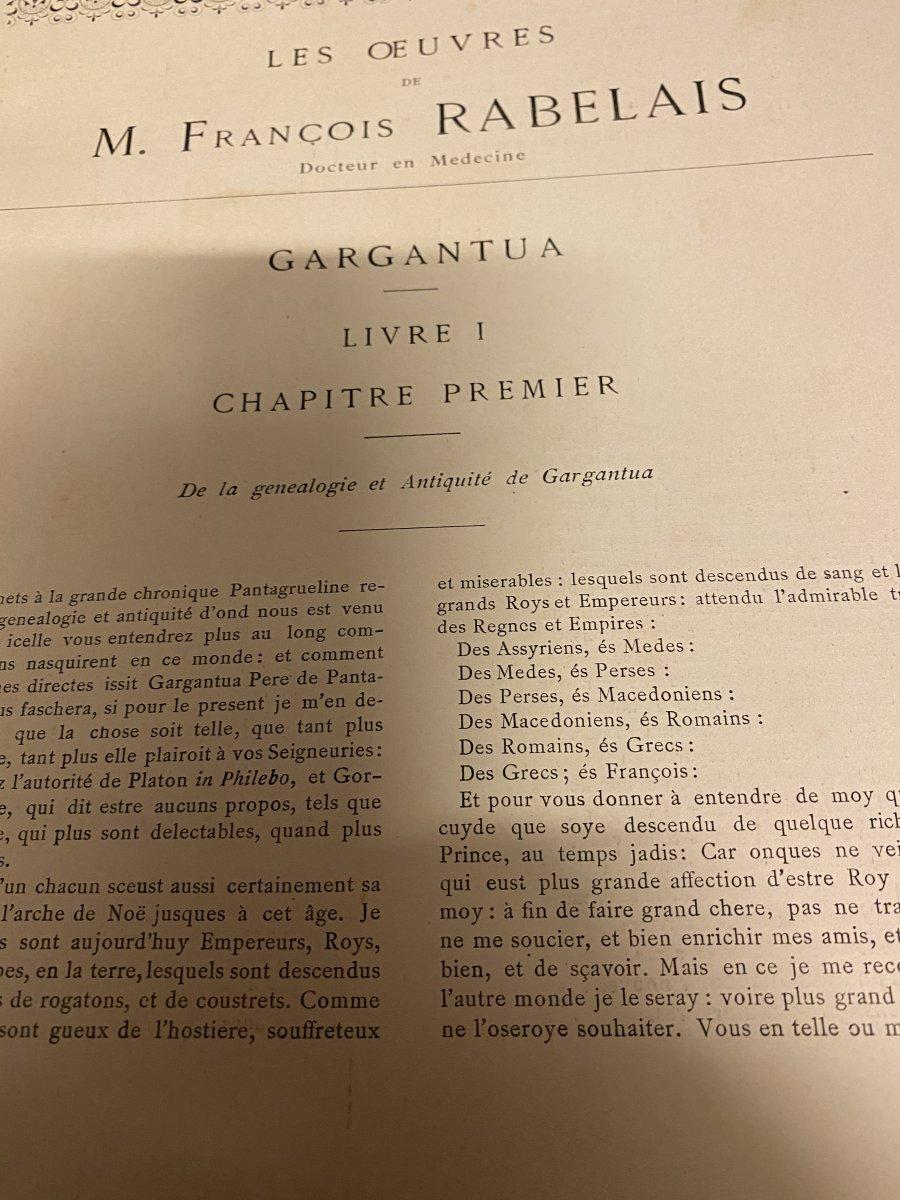 Rabelais Et L'œuvre De Jules -Arsène Garnier -photo-5
