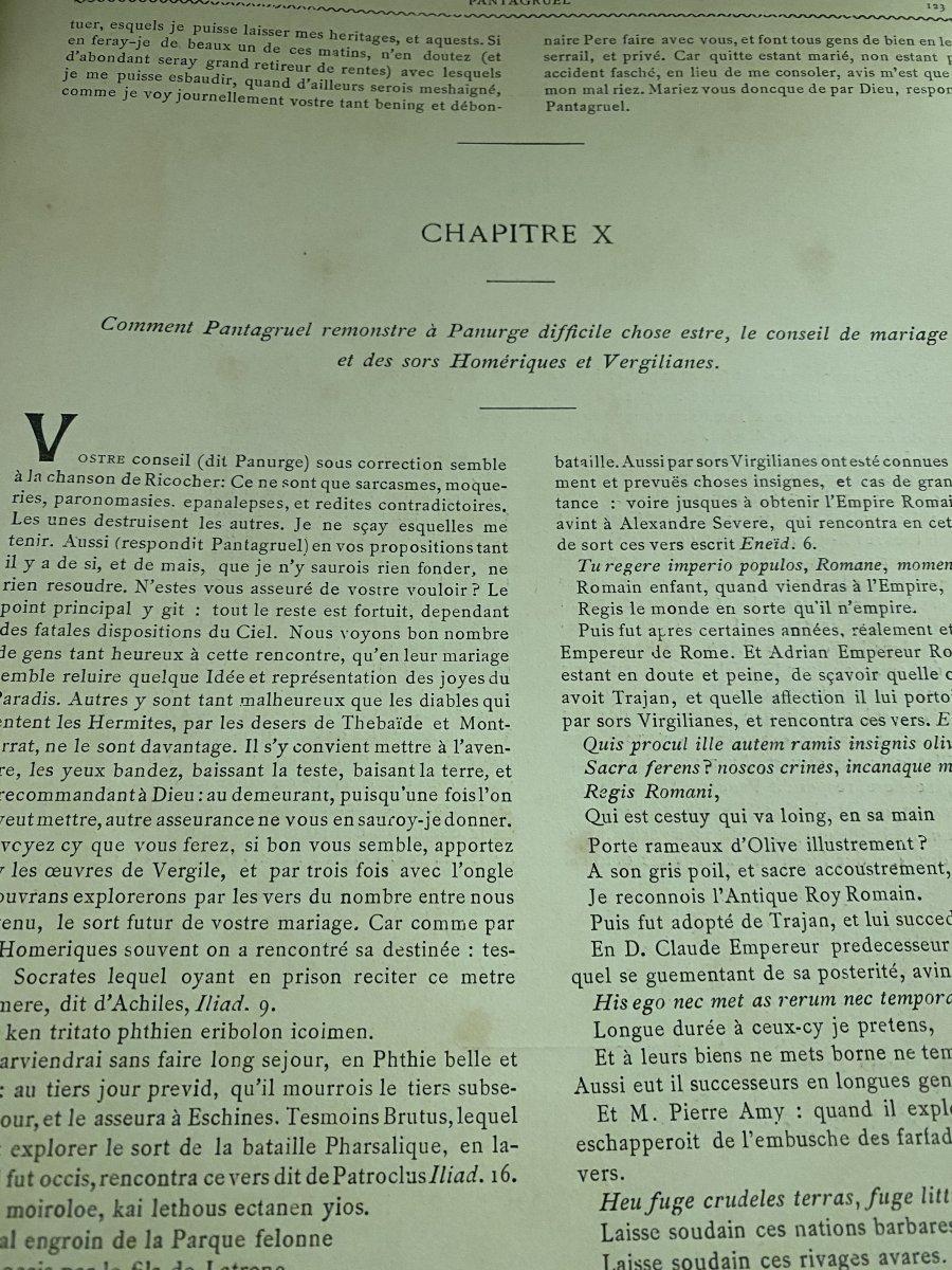 Rabelais Et L'œuvre De Jules -Arsène Garnier -photo-6