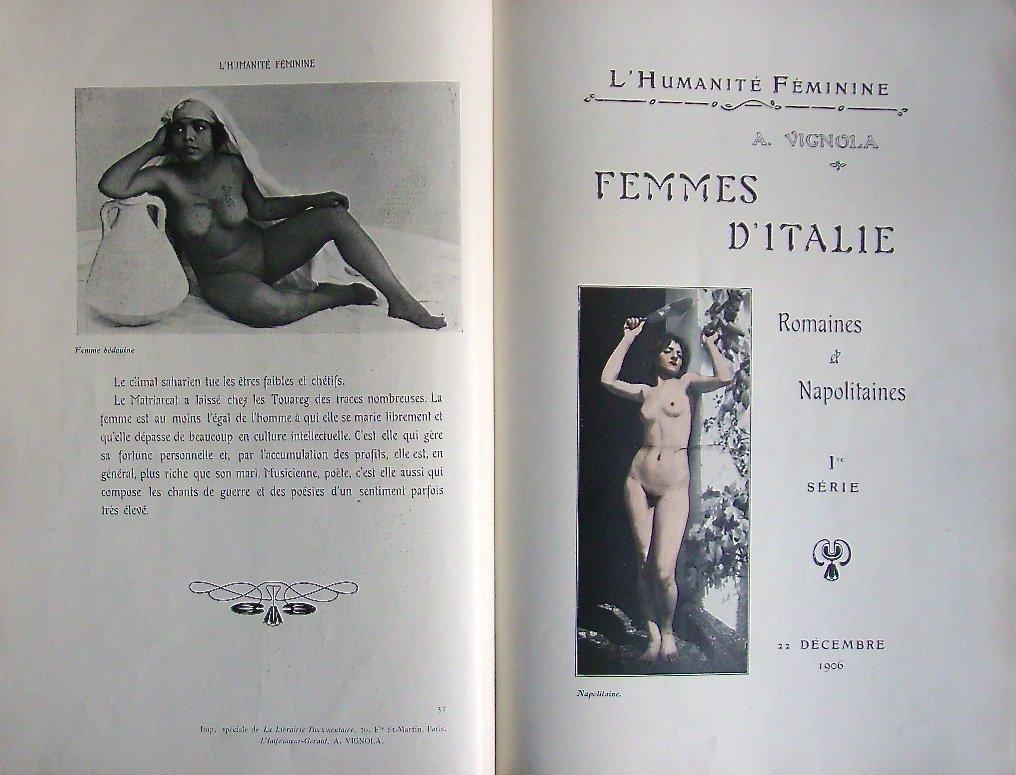 Album  Femmes    Modèles  -  Nues  Pour  Etudes  -africaines,  Italiennes,  Allemandes  Etc....