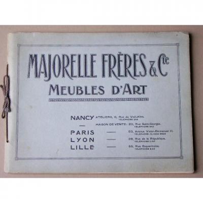 - Catalogue  Ancien  Majorelle  Frères  -  Nancy  -  Art   Nouveau   -  Meubles  &  Luminaires + la Notice - Tarif