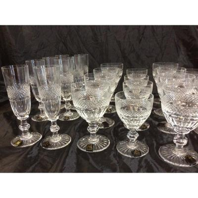 24 Verres St Louis Neufs Collection Trianon