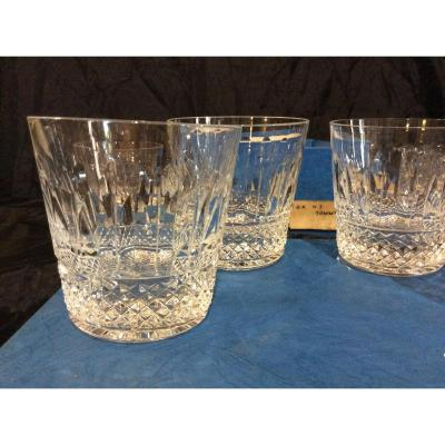6 VERRES A WHISKY en cristal SAINT LOUIS Collection Tommy