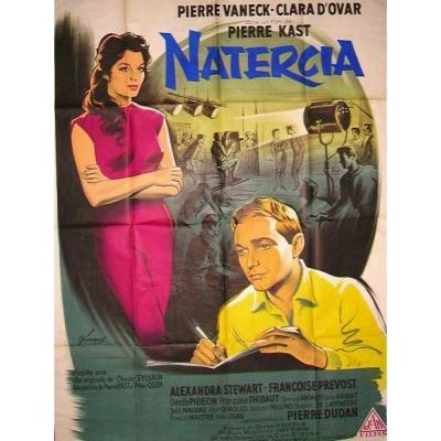 -  Affiche  De  Cinéma  -  Natercia  - De  Pierre  Kast  1960  Lithographiée  -
