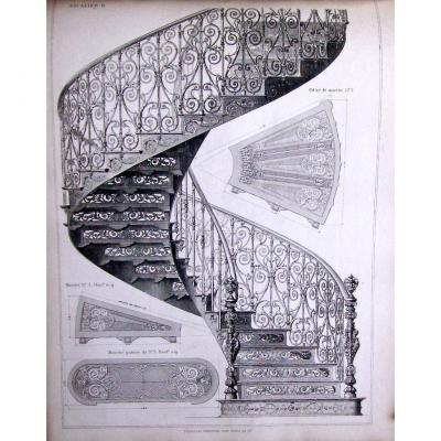 -  Ferronnerie :    A.   Durenne  -  Maitre  Des  Forges  -  1868  -  Catalogue  d'  Architecte
