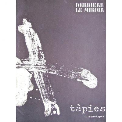 -  TAPIES   -  9  Lithographies  Pour   Derriere  Le  Miroir  -  n° 210    -    Monotypes     -