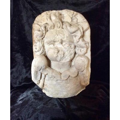 17th Century Putto Head