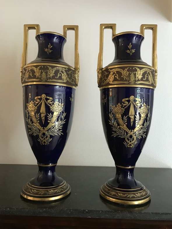 Pair Of Art Deco Vases Decoration And Objects Of Faience