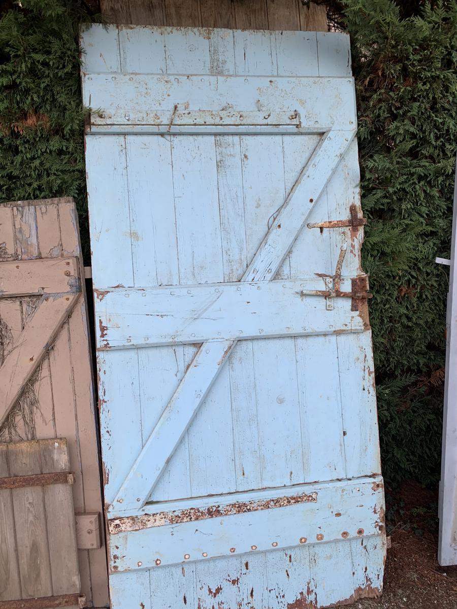 Porte d'étable Peinte