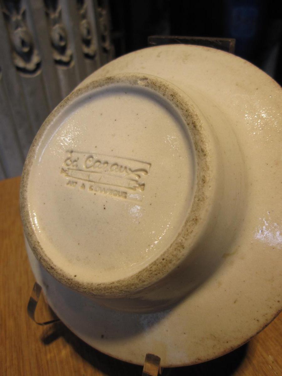 Coupe En Grès Porcelainé De Edouard Cazaux-photo-2