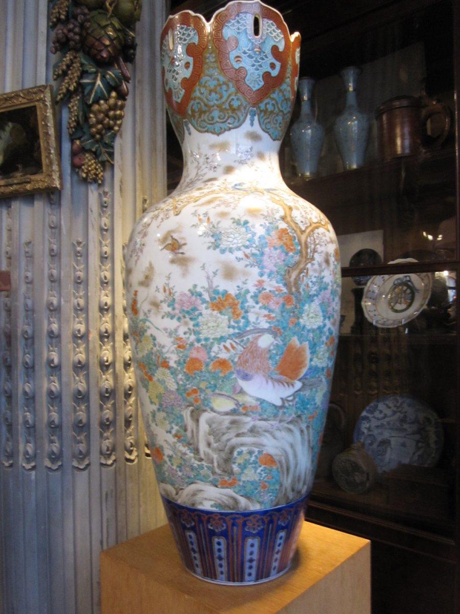 Grand Vase En Porcelaine Japon époque Meiji.