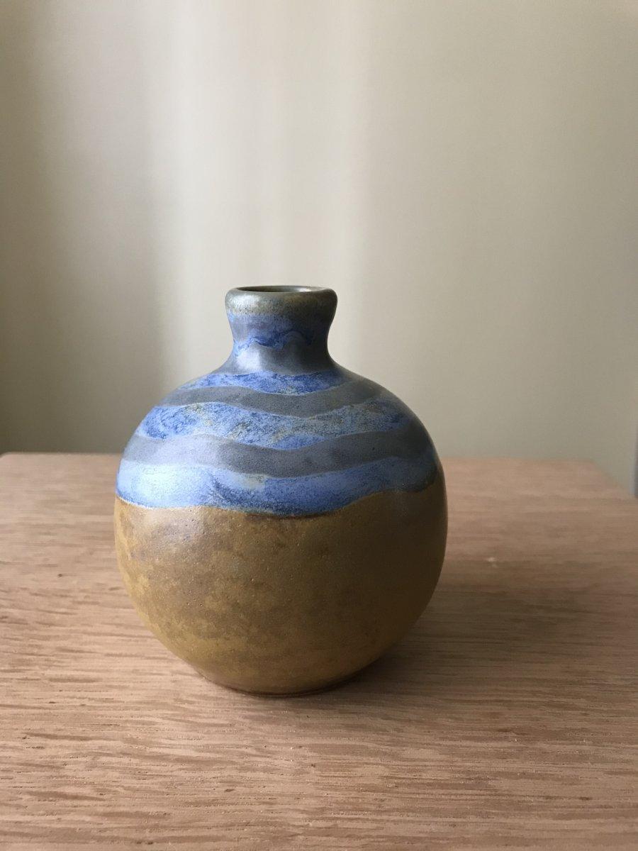 Vase Boule En Grès Louis Lourioux.