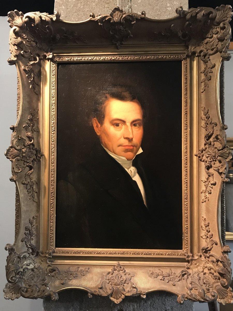 Portrait Of Man In Framed Bust.