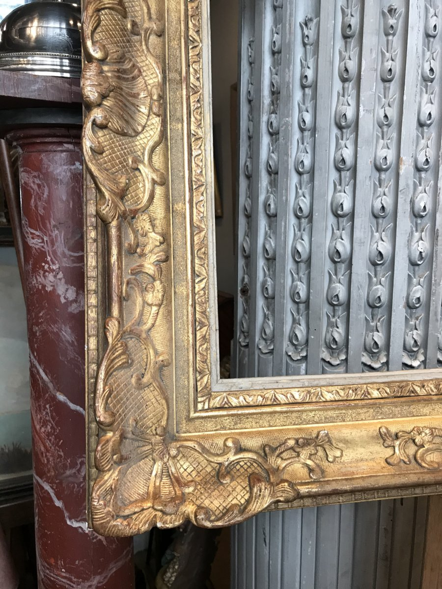Regency Style Gilded Wood And Stucco Frame.-photo-3