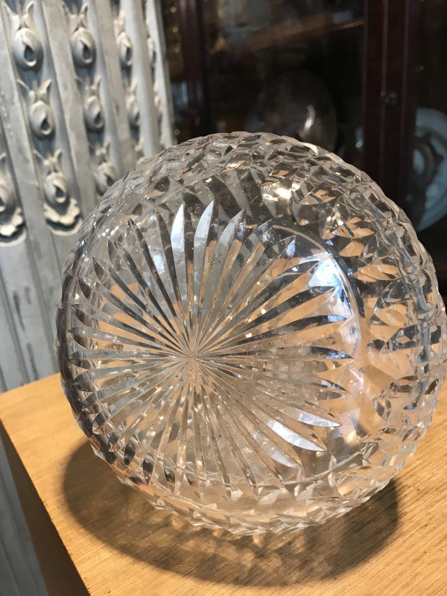 Carafe à Vin En Cristal Taillée.-photo-4