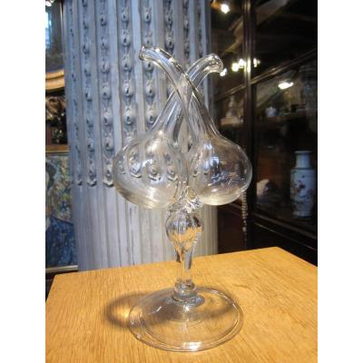 Guédoufle Translucent Clear Glass, Blown And Molded Second Half Of The XVIII Century.