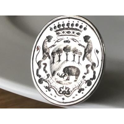 Seal Stamp In Armorial Silver.