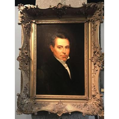 Portrait Of Man In Framed Bust.