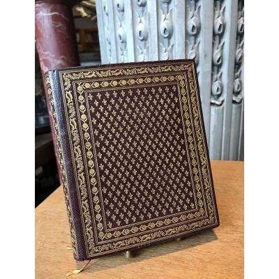 Beautiful Binding With Fleurs De Lys Signed Lesord.