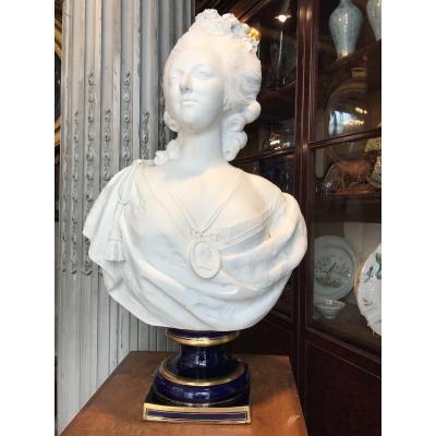 Buste En Biscuit De Marie Antoinette.