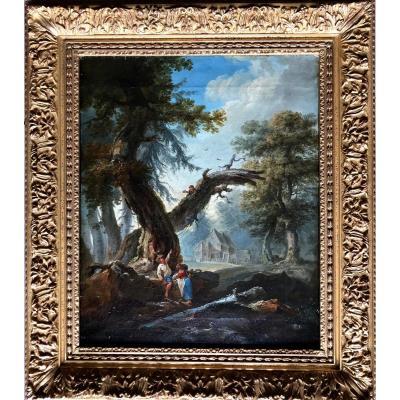 Les Dénicheurs D'oiseaux Jean-baptiste Pillement Lyon 1728-1808 (atelier De).