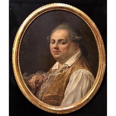 Portrait De Gentilhomme (suiveur De Quentin De La Tour).