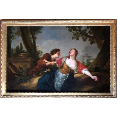 La Rose Défendue. (jean-baptiste-huet (atelier De, Paris 1745-1811).