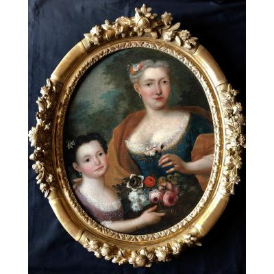 Portrait d'une Dame de qualité et de sa Fille