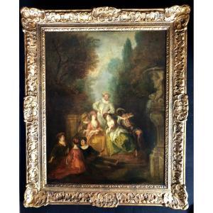 Jeux Galants (entourage De Nicolas Lancret (1690-1743)