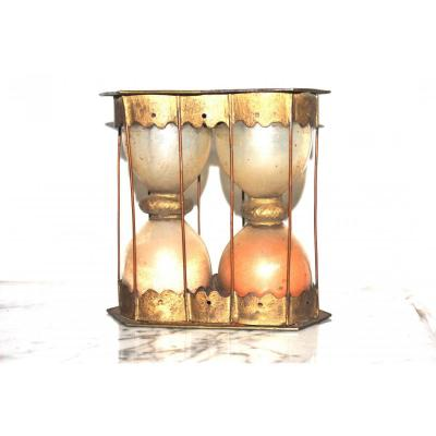 Sablier A Double Ampoules .instrument Scientifique XVII Siècle