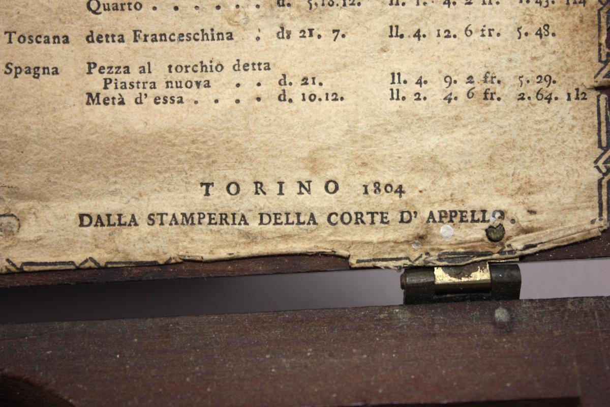Balance De Changeur Italienne Turin 1804-photo-2