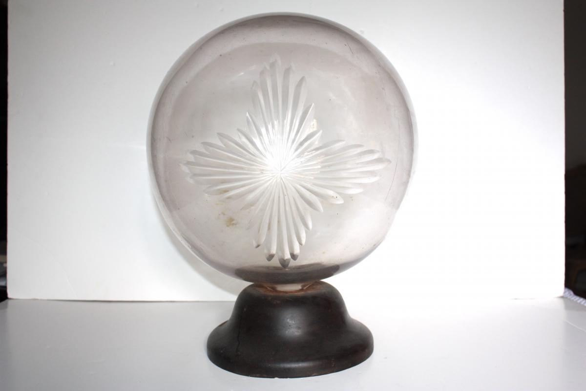 Globe présentoir vitrine pharmacie XIX ème