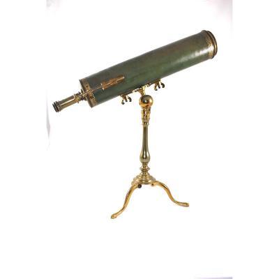 Reflexion Telescope Signed Paris In Paris C.1730