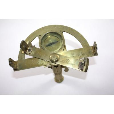 Pinnules Graphometer Signed Clergy At Butterfield In Paris C 1750
