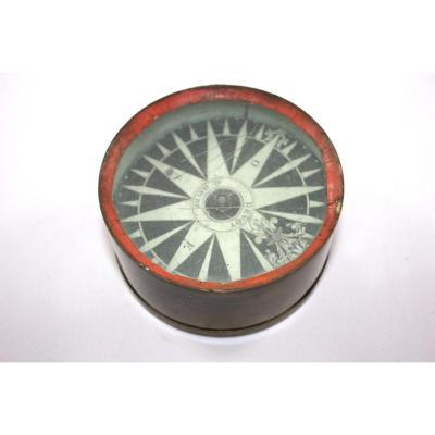 Pocket Craft Compass Signed Devot At Le Havre