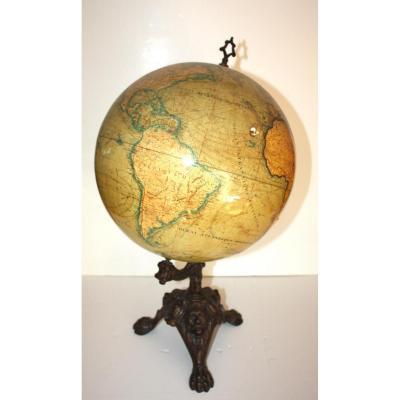 Globe By Jules Lebegue Paris C 1870