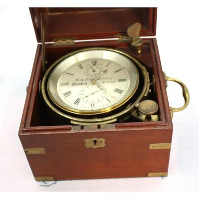 2-day Marine Chronometer Signed Bond A Boston