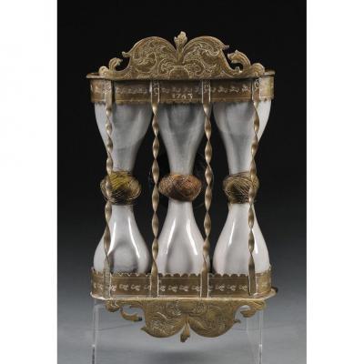 Rare Sablier A Trois Fioles  XVIII ème. Musée