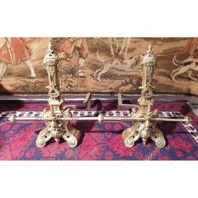 Chenets Bronze