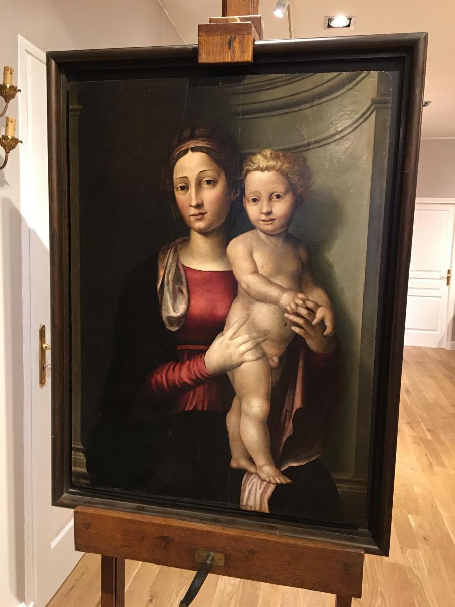 """""""Vierge à l'enfant"""" du 16ème siècle, de Leonardo Grazia da Pistoia"""