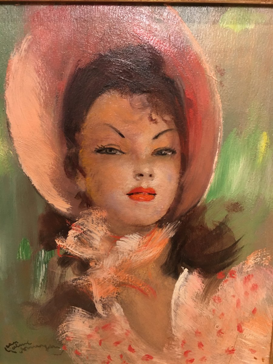 Portrait Of A Woman « rosita » By Jean-gabriel Domergue