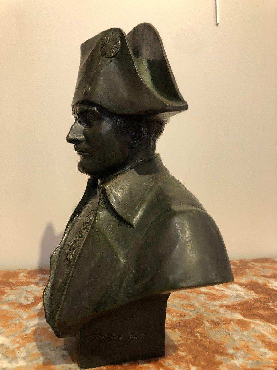 Buste De Napoléon En Bronze Fonte Barbedienne-photo-2