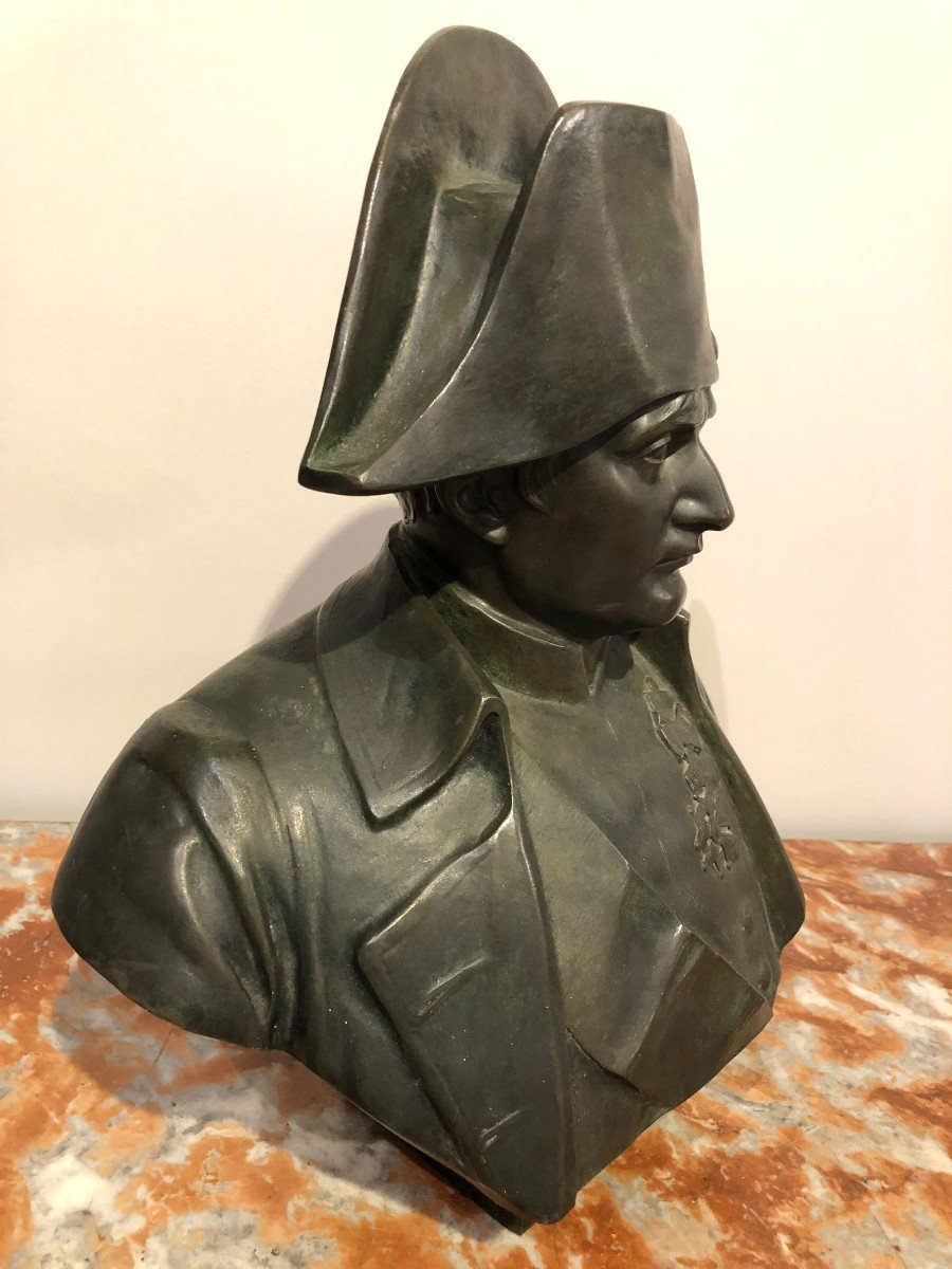 Buste De Napoléon En Bronze Fonte Barbedienne-photo-3