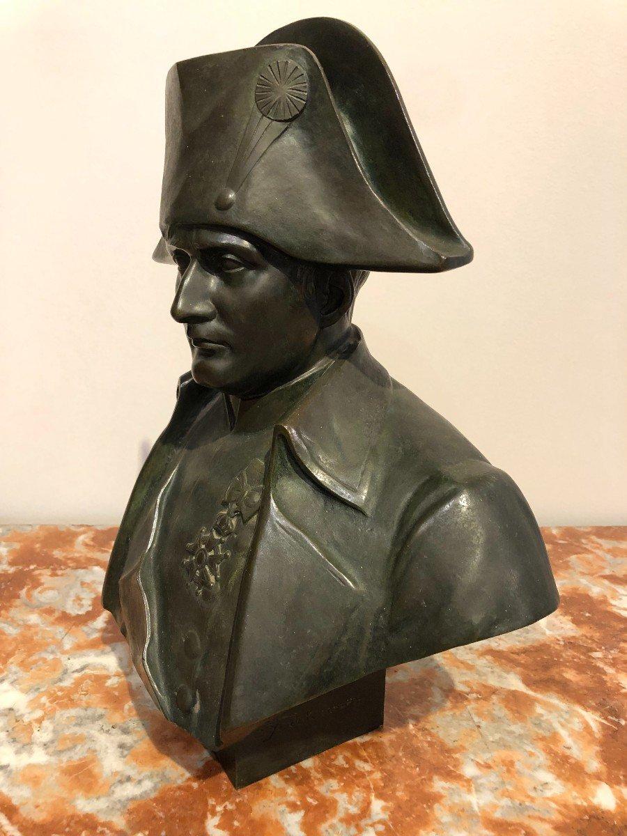 Buste De Napoléon En Bronze Fonte Barbedienne-photo-4