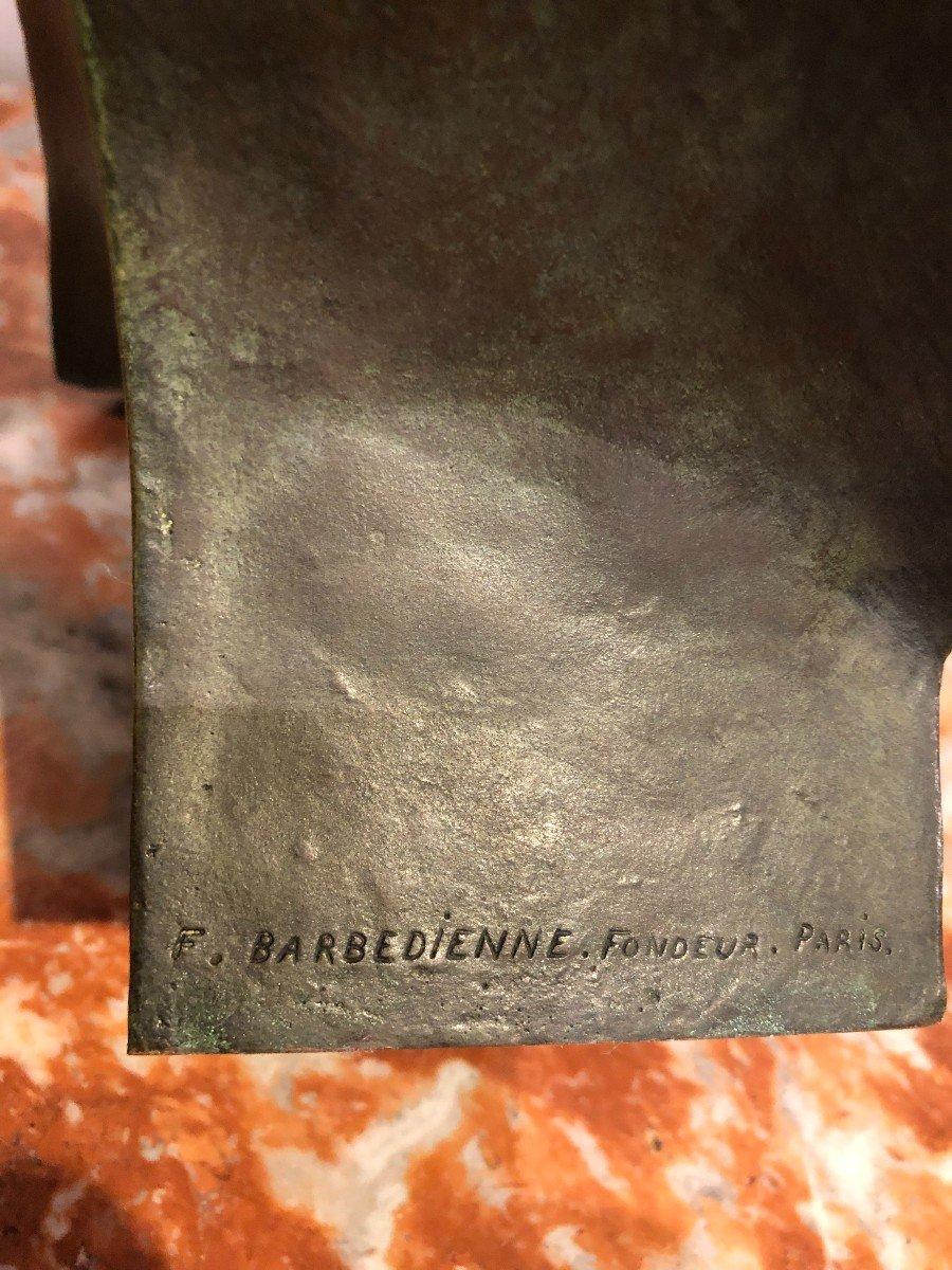 Buste De Napoléon En Bronze Fonte Barbedienne-photo-6