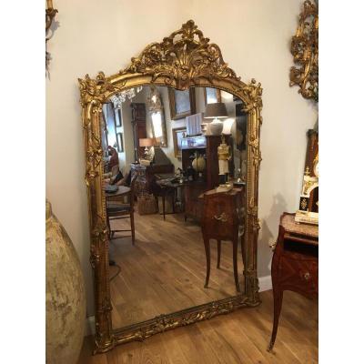 Miroir en bois doré Époque 19ème